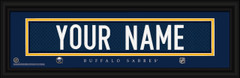 Buffalo Sabres Personalized Jersey Nameplate Framed Print