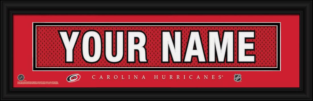 Carolina Hurricanes Personalized Jersey Nameplate Framed Print