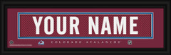 Colorado Avalanche Personalized Jersey Nameplate Framed Print