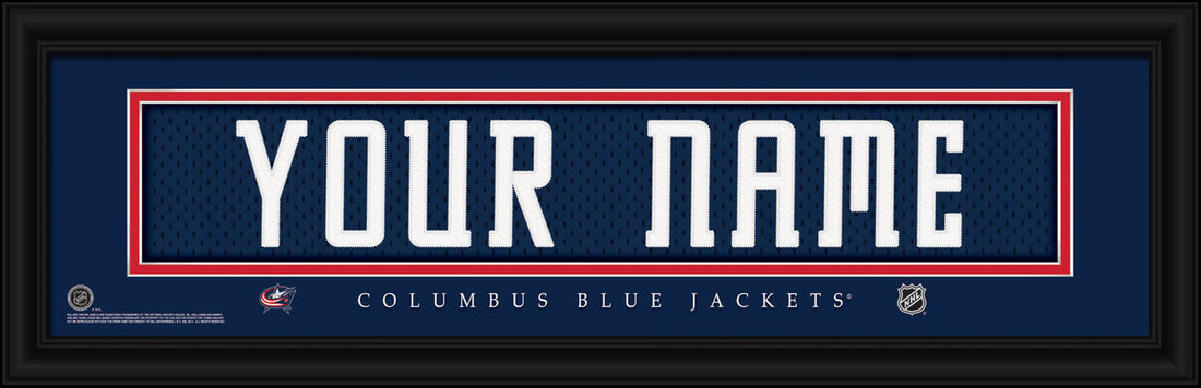 Columbus Blue Jackets Personalized Jersey Nameplate Framed Print
