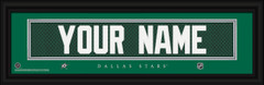 Dallas Stars Personalized Jersey Nameplate Framed Print