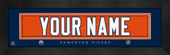 Edmonton Oilers Personalized Jersey Nameplate Framed Print