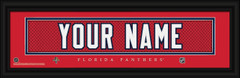 Florida Panthers Personalized Jersey Nameplate Framed Print