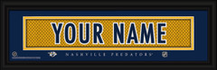 Nashville Predators Personalized Jersey Nameplate Framed Print