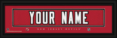 New Jersey Devils Personalized Jersey Nameplate Framed Print