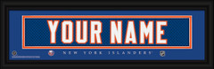 New York Islanders Personalized Jersey Nameplate Framed Print