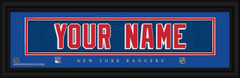 New York Rangers Personalized Jersey Nameplate Framed Print