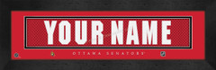Ottawa Senators Personalized Jersey Nameplate Framed Print