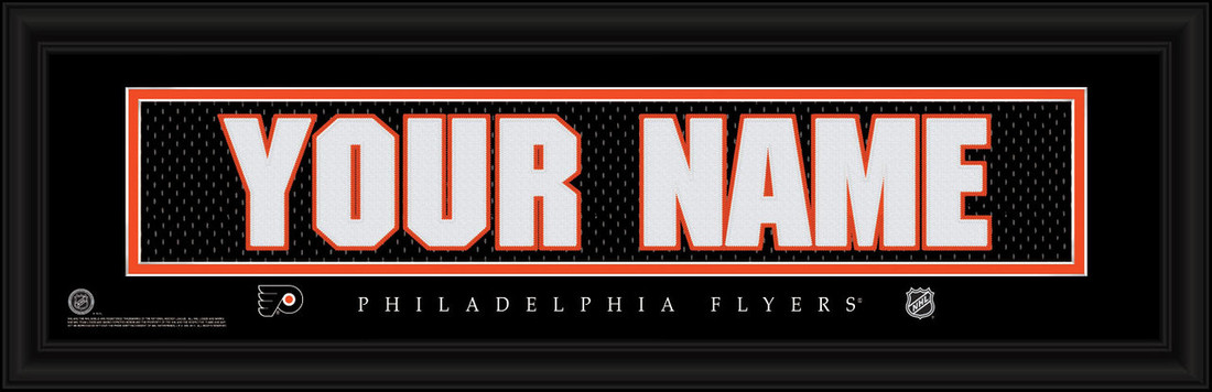 Philadelphia Flyers Personalized Jersey Nameplate Framed Print