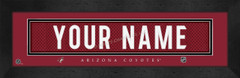 Phoenix Coyotes Personalized Jersey Nameplate Framed Print
