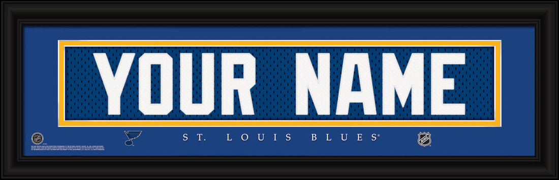 St. Louis Blues Personalized Jersey Nameplate Framed Print