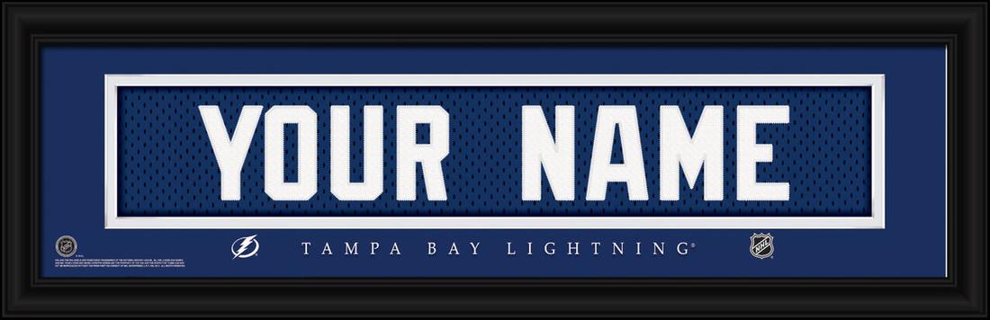 Tampa Bay Lightning Personalized Jersey Nameplate Framed Print