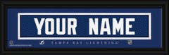 Tampa Bay Lightning Personalized Jersey Nameplate Framed Print