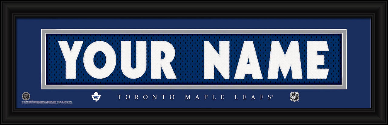 cheap for discount 55a9a b8ff4 Toronto Maple Leafs Personalized Jersey Nameplate