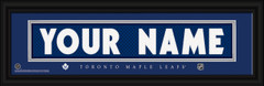 Toronto Maple Leafs Personalized Jersey Nameplate Framed Print