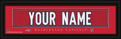 Washington Capitals Personalized Jersey Nameplate Framed Print