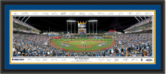Kansas City Royals Game 6 World Series Framed Picture Signature Edition DOUBLE MATTING and BLACK FRAME