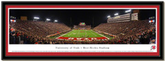 Utah Utes The Blackout Panoramic Framed Poster matted