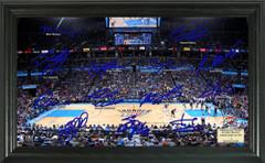 Oklahoma City Thunder Team Signature Framed Picture
