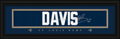 St. Louis Rams signature player jersey prints