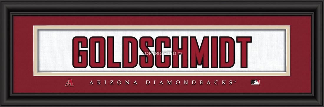 Arizona Diamondbacks signature player jersey prints