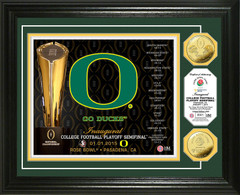 Oregon 2014 College Football Playoff Rose Bowl Gold Coin Photo Mint
