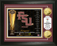 FSU 2014 College Football Playoff Rose Bowl Gold Coin Photo Mint