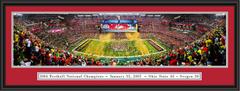 2015 CFP Championship Celebration Framed Panoramic Print