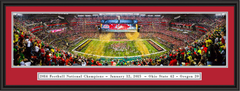 2015 CFP Championship Celebration Framed Panoramic Print
