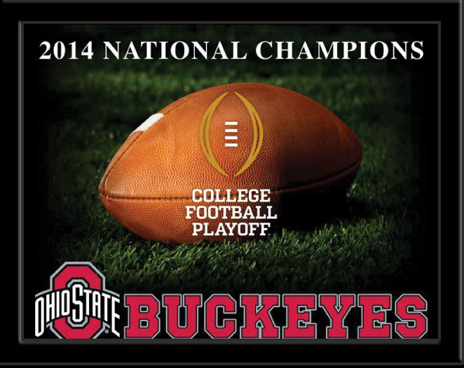 2014 National Champions Ohio State Buckeyes Framed Picture
