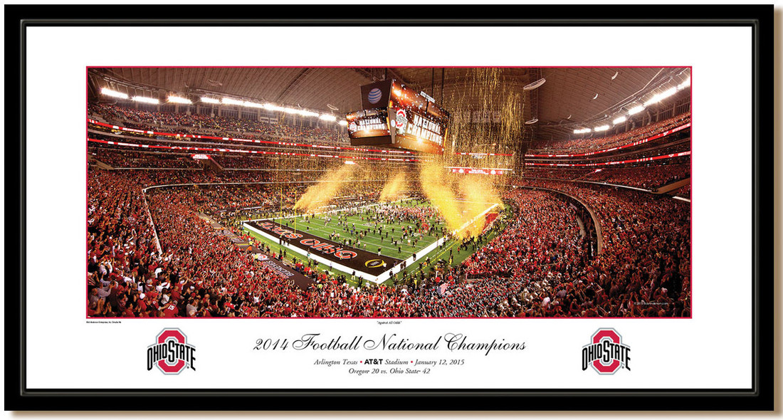 Ohio State Against All Odds 2015 National Championship Framed Print
