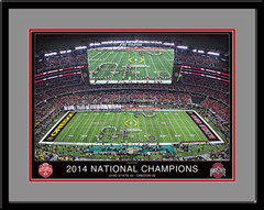Undisputed National Champions Ohio State Framed Picture matted in gray