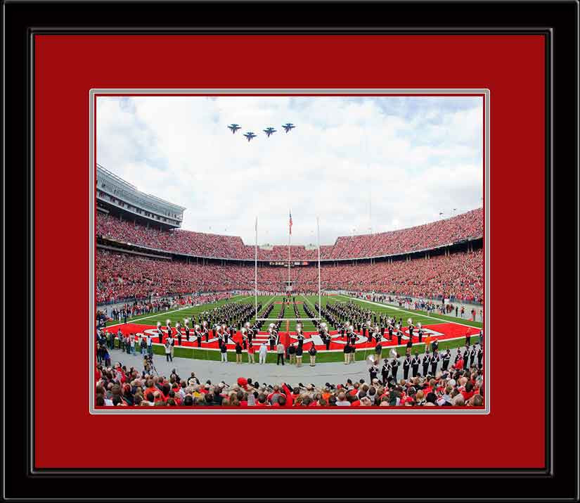 Ohio State Buckeye Flyover Framed Picture