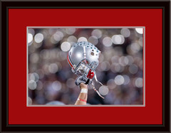 Ohio State Buckeye Helmet Framed Picture