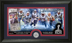 Patriots Super Bowl XLIX Champions Minted Coin Photo Mint