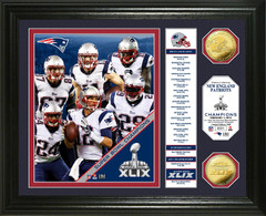 "ew England Patriots Super Bowl XLIX Champions ""Banner"" Coin Photo Mint"