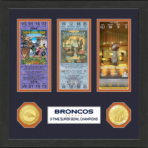 Denver Broncos Super Bowl 50 Championship Photo Mint