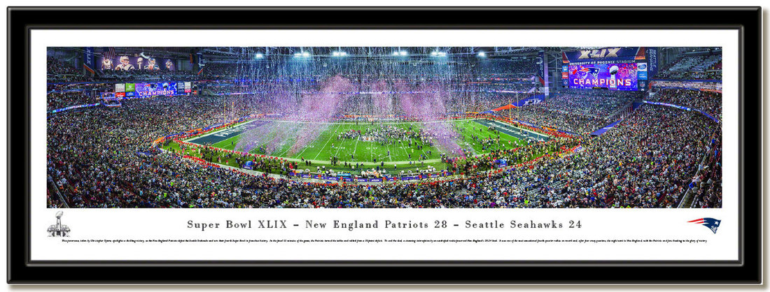 Patriots Super Bowl XLIX 2015 Panoramic Poster no mat