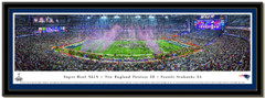 Patriots Super Bowl XLIX 2015 Panoramic Poster matted