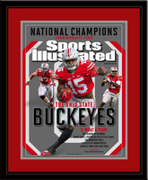 Ohio State National Championship Sports Illustrated Cover Matted and Framed