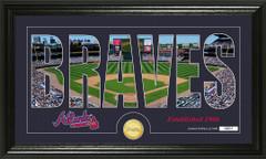 Atlanta Braves Word Art Coin Photo Mint