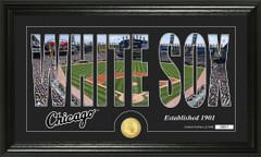 Chicago White Sox Letter Art Team Coin Photo Mint