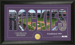 Colorado Rockies Letter Art Team Coin Photo Mint