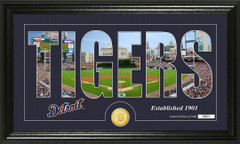 Detroit Tigers Letter Art Team Coin Photo Mint
