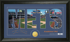 New York Mets Letter Art Team Coin Photo Mint
