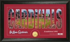 St. Louis Cardinals Letter Art Team Coin Photo Mint