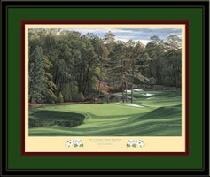 White Dogwood Augusta 11th Hole Framed Golf Art Print