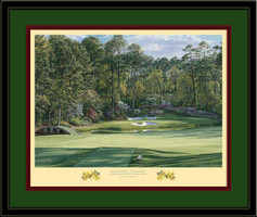 Golden Bell Augusta 12th Hole Framed Golf Art Print
