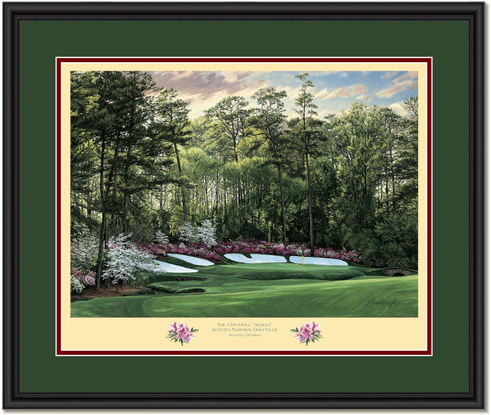 Azalea Augusta 13th Hole Framed Golf Art Print