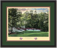Azalea Augusta 13th Hole Framed Golf Art Print